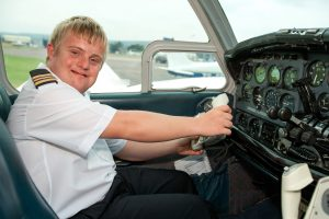 disabled person become a licensed pilot