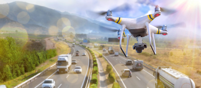 Flying over moving vehicles